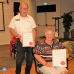 twee ereleden EHBO-vereniging Mierlo-Hout