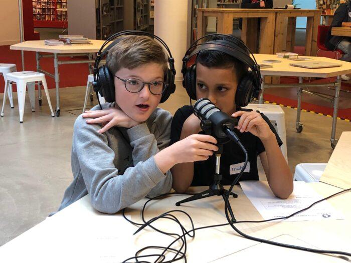 Eerste workshop podcast maken in Bibliotheek Helmond-Peel