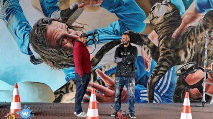 Muurschilderingen op Traversemuren, ze zijn klaar