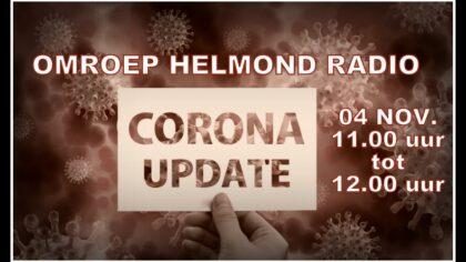 Extra uitzending Corona Update bij Omroep Helmond radio.