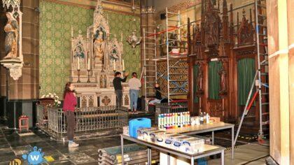 Docent en student Sint Lucas over restauratie in de St. Lambertuskerk