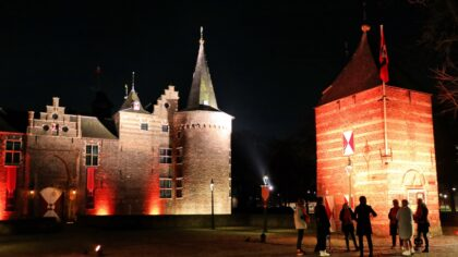 Kasteel Helmond oranje verlicht: 'stop geweld tegen vrouwen'