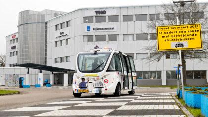 Zelfrijdende minibus FABULOS is in Helmond