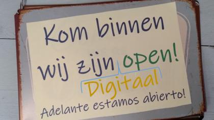 De stenen winkel is gesloten, maar digitaal geopend