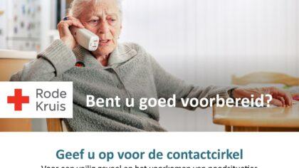 Rode Kruis helpt hulpbehoevende mensen met Contactcirkel