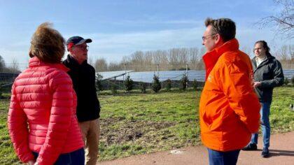 Code Oranje lijsttrekker Richard de Mos bezoekt Stiphout