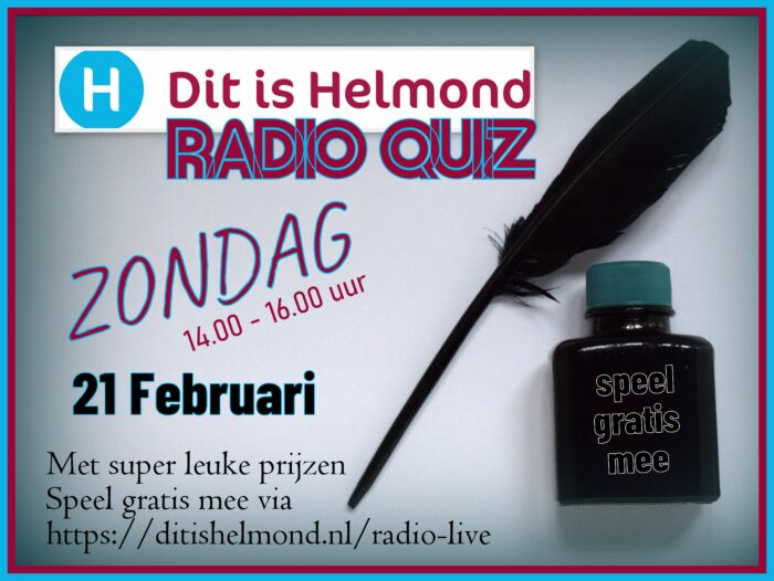 De DitisHelmond Radio Quiz op 21 februari