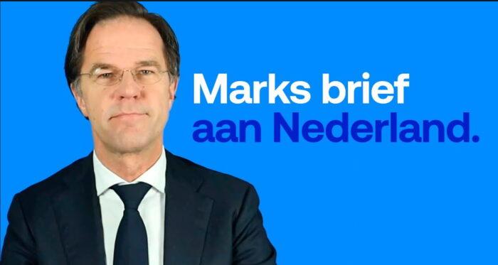 Brief van Mark Rutte aan de Nederlanders