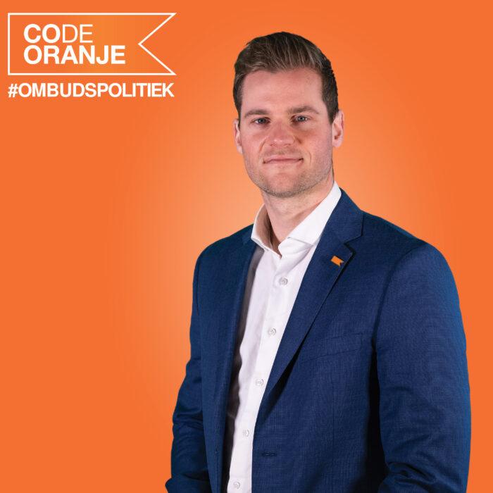 Plek 11 voor raadslid Martijn Rieter op lijst Code Oranje