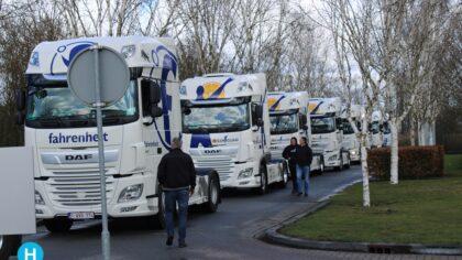 Groots eerbetoon aan overleden vrachtwagenchauffeur