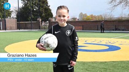 Graziano Hazes maakte via de Helmondse Voetbalschool de stap naar PSV