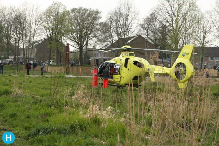 Traumahelikopter verleent assistentie