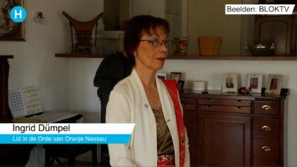 Ingrid Dümpel van DitisHelmond radio Koninklijk onderscheiden