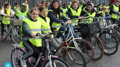 Fiets verkeersexamens in Helmond weer volop aan de gang
