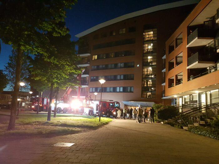 Brand in kelder appartementencomplex Groenstraat