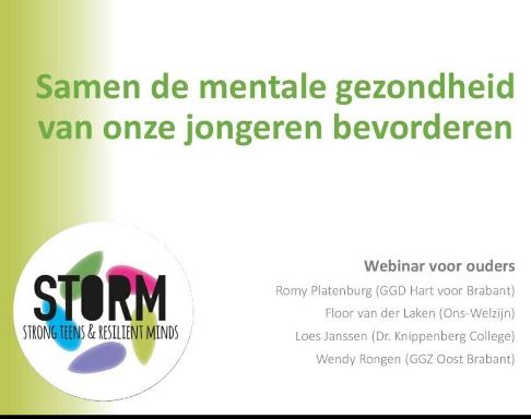 Kijktip: het webinar voor ouders: 'Samen de mentale gezondheid van onze jongeren verbeteren'