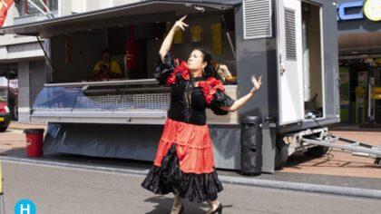 Spaanse danseres op de Helmondse markt