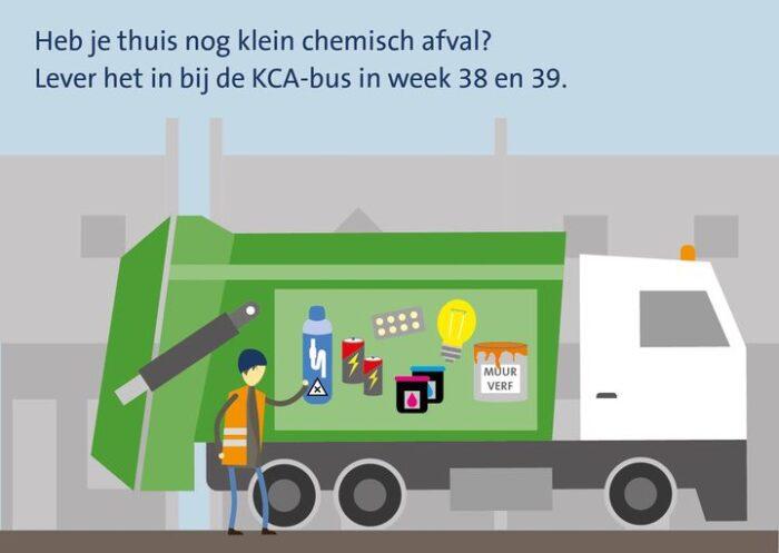 Inleveren klein chemisch afval bij de kca-bus