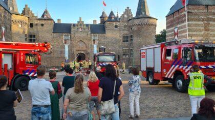 Brand in kasteel blijkt rampenoefening