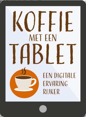 Koffie met een tablet – online boodschappen doen
