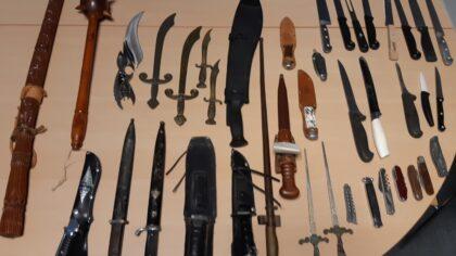 Veertig steekwapens ingeleverd bij inleveractie