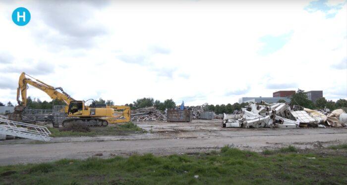 Logistieke hallen op voormalige locatie UTD aan Suytkade