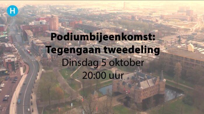 Podiumbijeenkomst over tweedeling live op DitisHelmond-tv